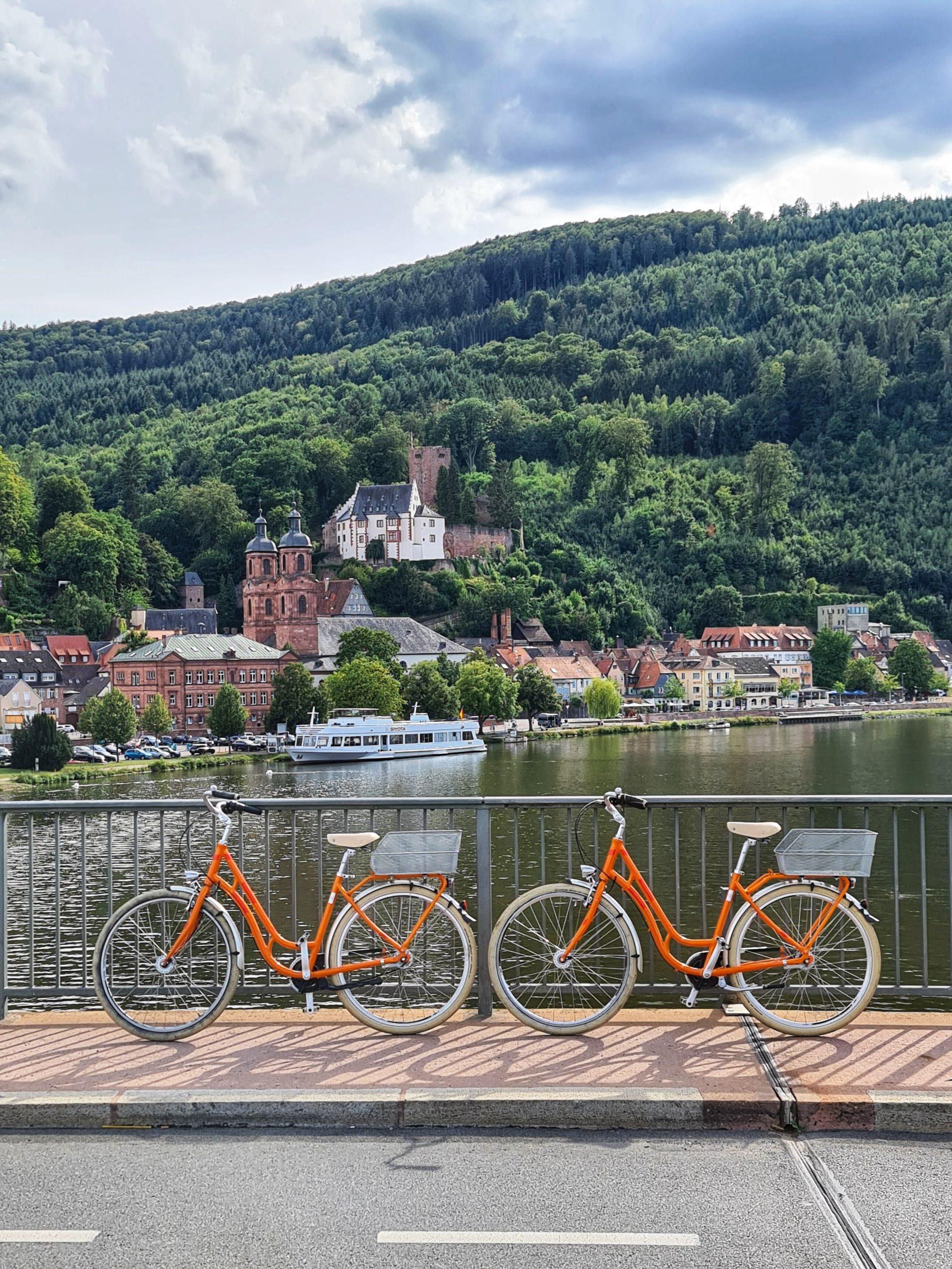 Platzhalter Fahrradverleih - Fahrräder auf Mainbrücke © Martin Widenka