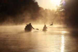 Morgenstimmung beim Paddeln © Kanustation Main-Tauber 1200